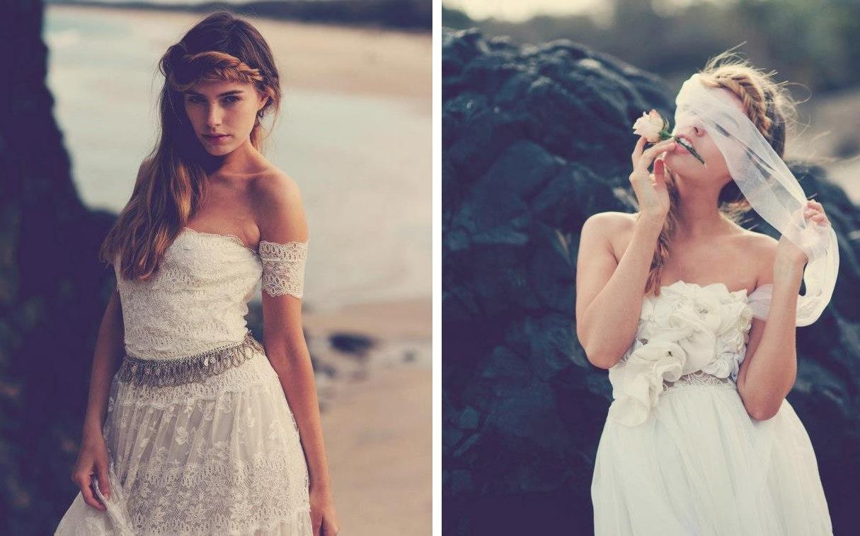 casual beach wedding dresses perth lace beach wedding dresses Bohemian Beach Wedding Dresses 18
