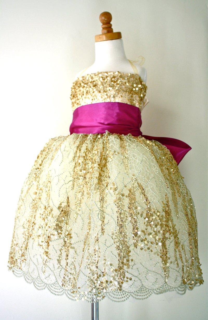 Large Of Gold Flower Girl Dresses