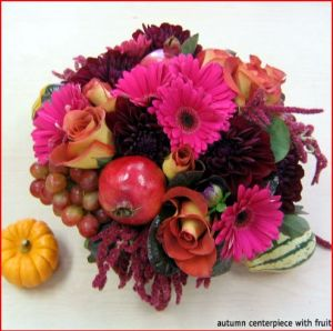 Autumn Centerpiece with Fruit