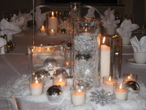 Sparkling Winter Candle Centerpiece