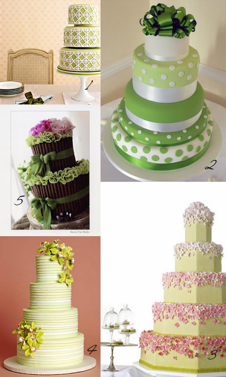 Green Wedding Cakes For Spring