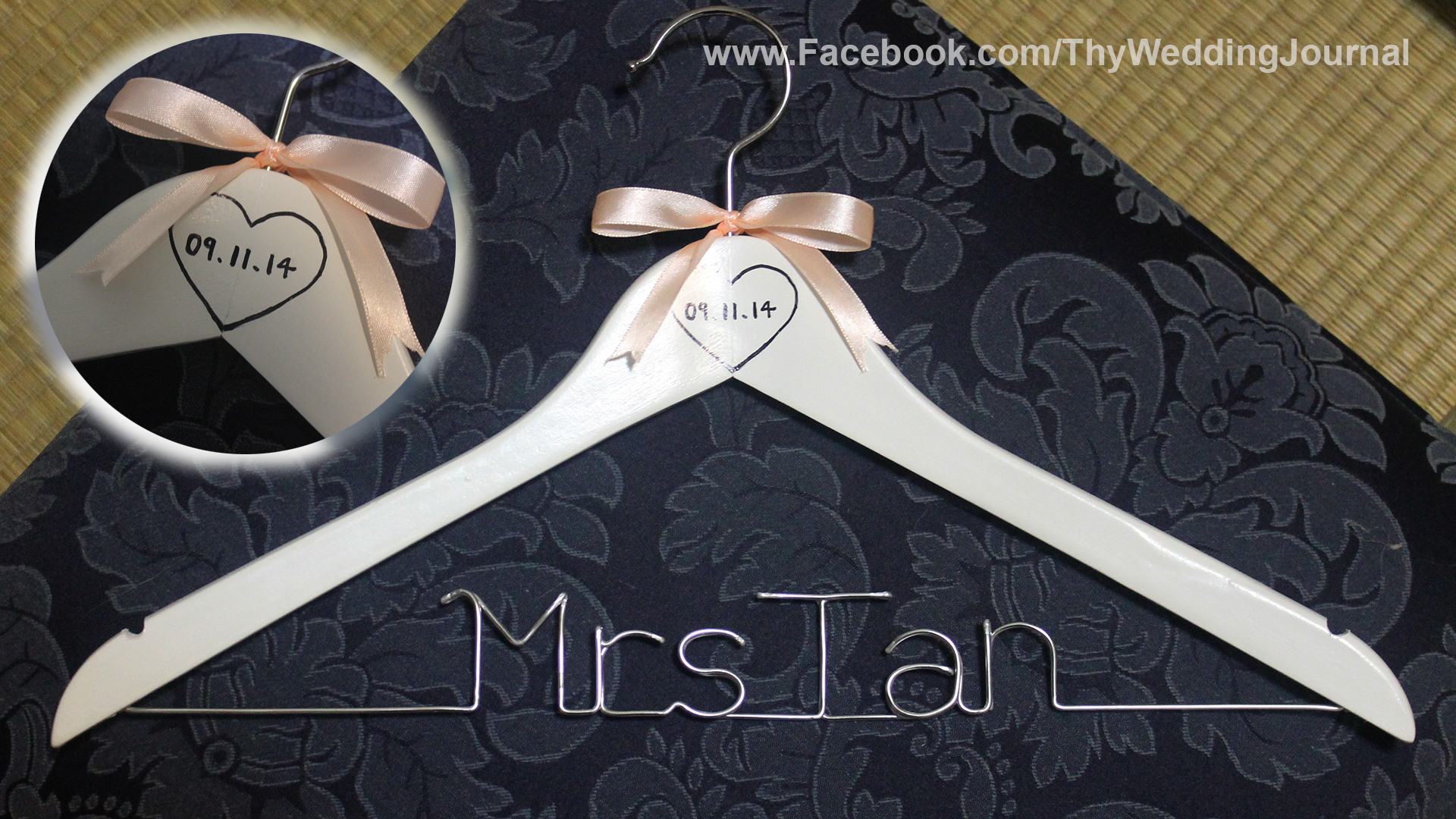 mr mrs wedding hangers Mrs Wedding Hanger