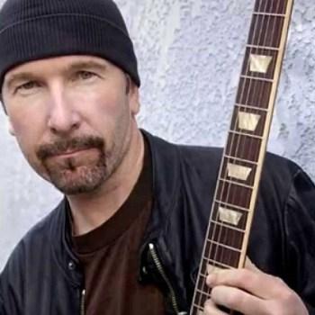 U2's The Edge walks daughter down aisle