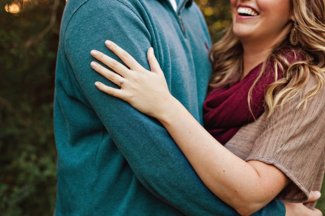 Nashville Wedding Photographer Fall Engagement Session Ring Picture