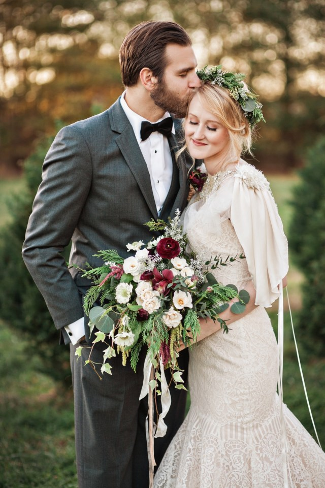 Winter Christmas Tree Farm Elopement | Amilia Photography | Nashville Wedding Photographer