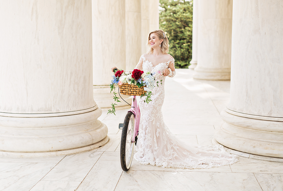 Washington DC Wedding Photographer Elopement Jefferson Memorial
