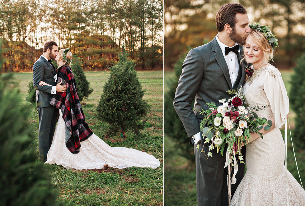 Christmas Tree Farm Wedding Nashville Wedding Photographer
