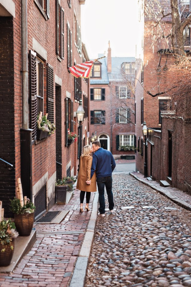 Boston Engagement Photographer Acorn Street