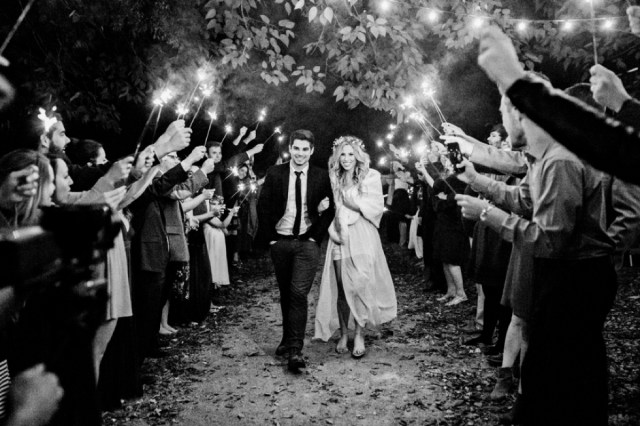 Sparkler Exit Inspiration Meadow Hill Farm Nashville