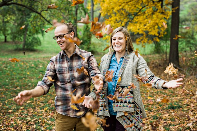 Boston Engagement Session in the Fall