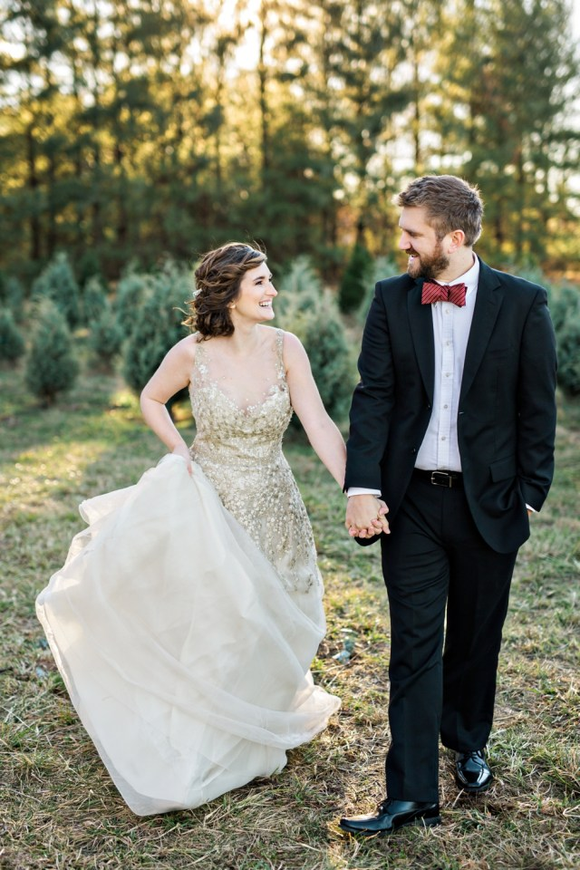 Christmas Tree Farm Engagement Session Wedding Country Cove