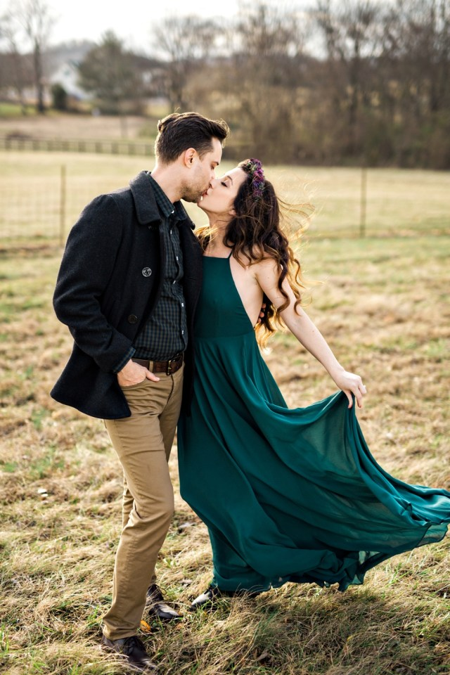 Boho Wedding Photographer Nashville Engagement Pictures