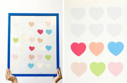 diy hearts wedding guestbook via one lovely day