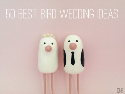 50 Best Bird Wedding Ideas via Emmaline Bride