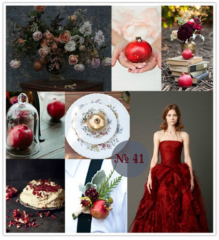 Pomegranate and Pewter Mood Board via Limn & Lovely