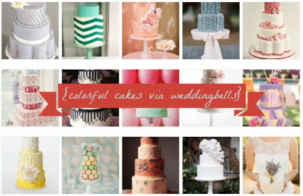 wedding cakes via wedding belles