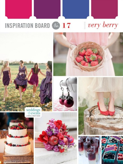Very Berry Inspiration Board via Elegance & Enchantment