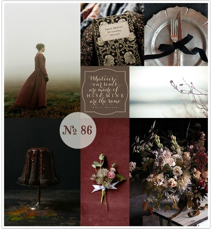 Wuthering Heights Wedding Mood Board via Limn & Lovely