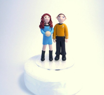Star Trek Wedding Cake Toppers geeksugar.com