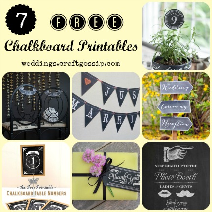 Free Chalkboard Printables via weddings.craftgossip.com