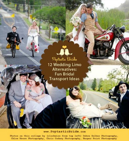 12 Limo Alternatives & Fun Bridal Transportation Ideas via Poptastic Bride