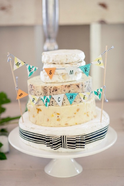 Cheese Wedding Cake via Southbound Bride