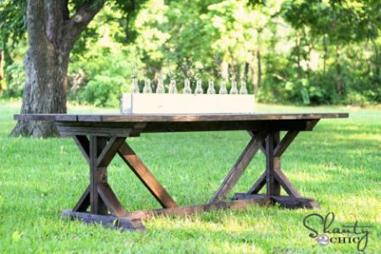 Fancy Farmhouse Table via Shanty 2 Chic via ana-white.com