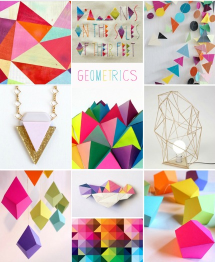 Geometric Inspiration Board via Pocketful of Dreams