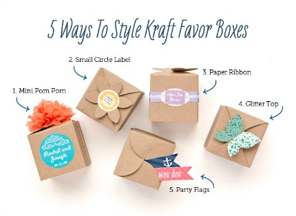 5 Ways to Style Kraft Favor Boxes via My Own Ideas