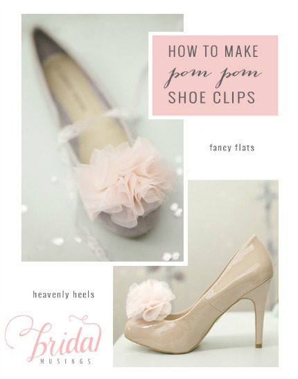 DIY Pom Pom Shoe Clips via Bridal Musings