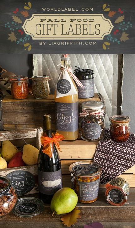 Fall Food Gift Labels by Lia Griffith for World Label