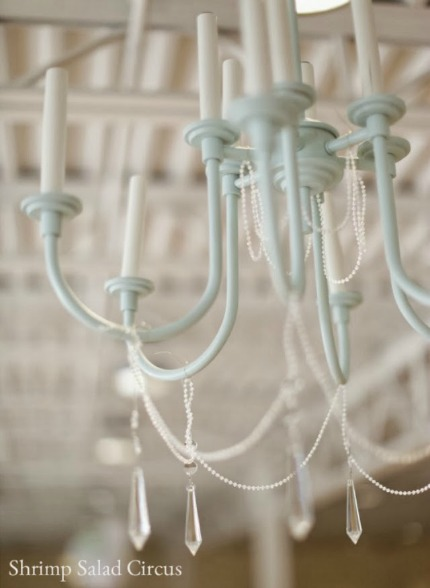 $10 Thrift Store Chandelier Makeover via Shrimp Salad Circus