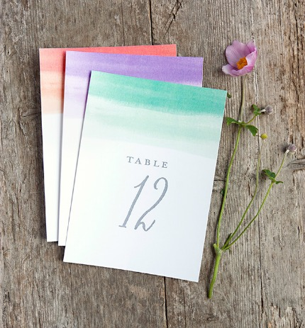 Free Printable Color Wash Table Numbers via My Own Labels