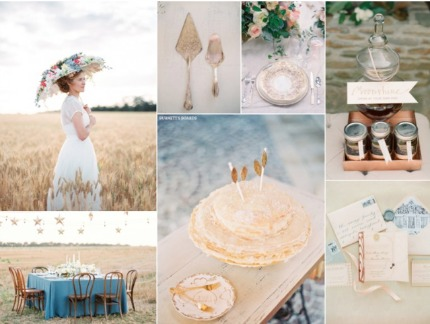 Vintage Praire Wedding Inspiration via Burnett's Boards