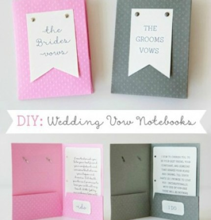 DIY Wedding Vow Notebook via Something Turqouise with image by Studio 11 Photography