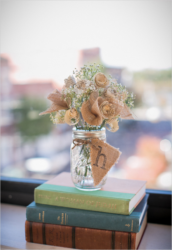 Wedding centerpieces using antique books diy weddings