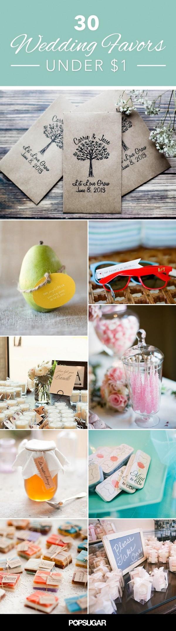 Wedding favors under 1 diy weddings for Cheap wedding themes