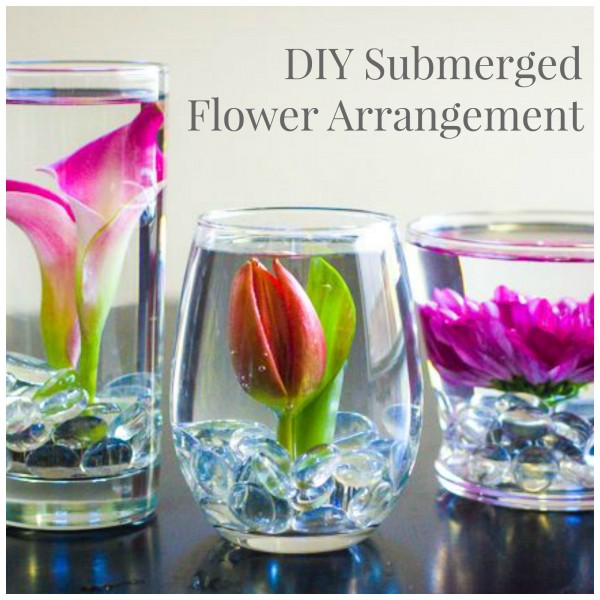How to make your own submerged flower arrangement diy for Create your own flower arrangement