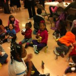 Little Kids enjoying refreshments after Bible Story
