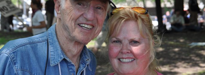 Haskell Wexler and me, May 22, 2012, Grant Park, Chicago