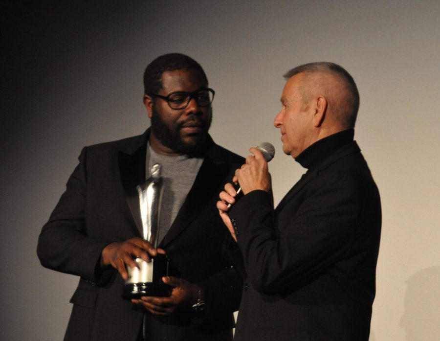 Michael Kutza points out that the Black Perspectives Artistic Achievement award is one inch taller than the Oscar.