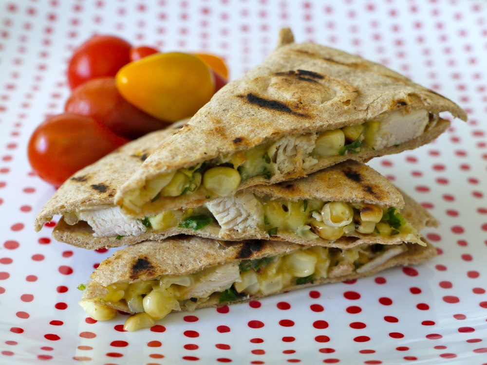 Grilled Chicken and Corn Quesadilla