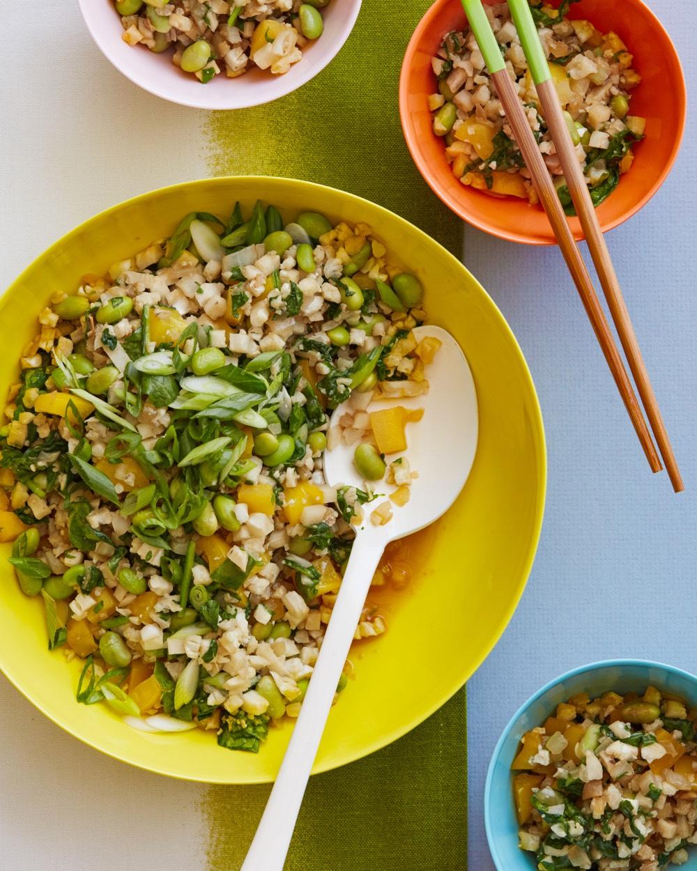 Asian Style Cauliflower Rice from weelicious.com