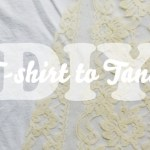 DIY: T-shirt to Lacy Tank