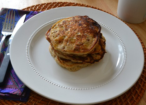 Banana Bread Pancakes 2 Rise and shine   its time for a Banana Bread Pancake recipe!
