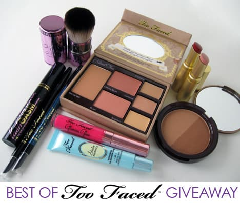 TooFacedGiveaway1 Best of Too Faced Giveaway   10 products, $236 value!