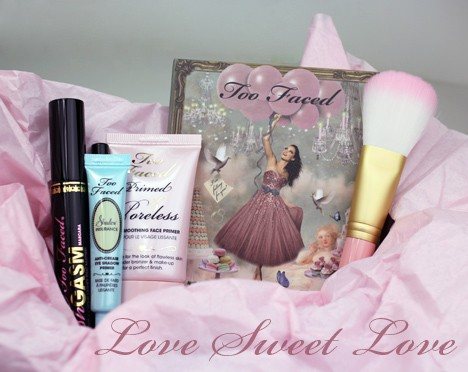 TooFacedLove1 Too Faced Love Sweet Love Set   Review, Photos & Swatches