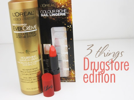 3thingsDrugstore 3 Things   Tell us your Latest Drugstore Purchases...
