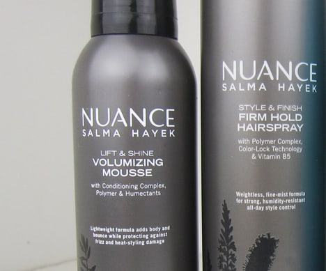 Nuancehaircare5 Nuance Salma Hayek Argan Oil Shampoo and Conditioner   review