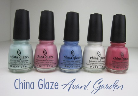 ChinaGlazeAvant1 China Glaze Avant Garden, Pastel Petals   swatches and review